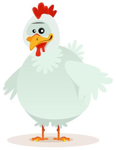 Personagem de frango bonito vetor