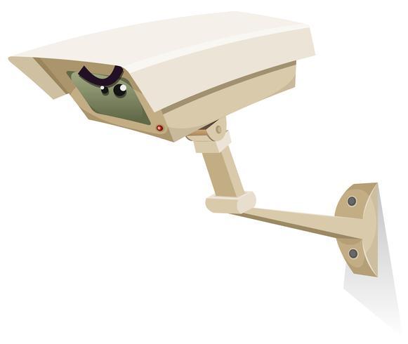 Câmera de segurança CCTV vetor