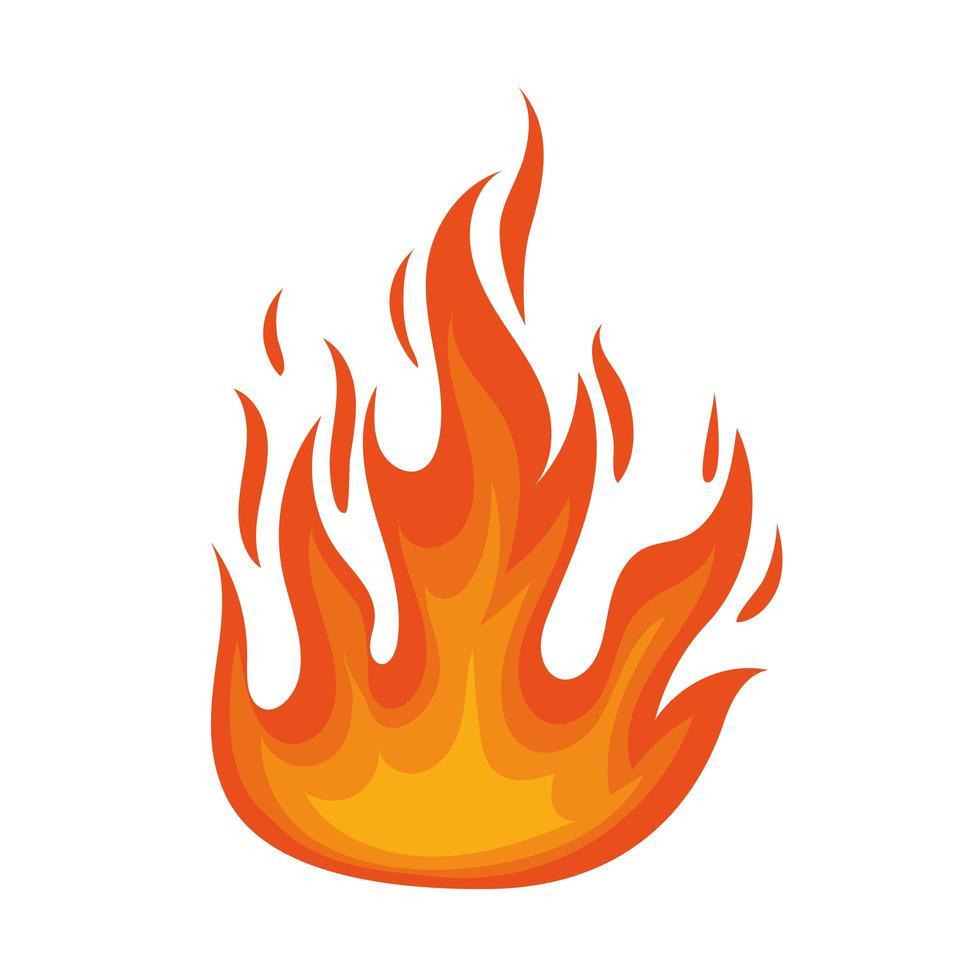 laranja chama de fogo vetor