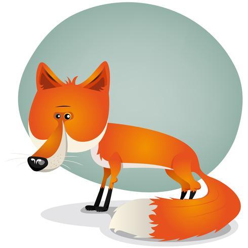 Personagem de raposa fofa vetor