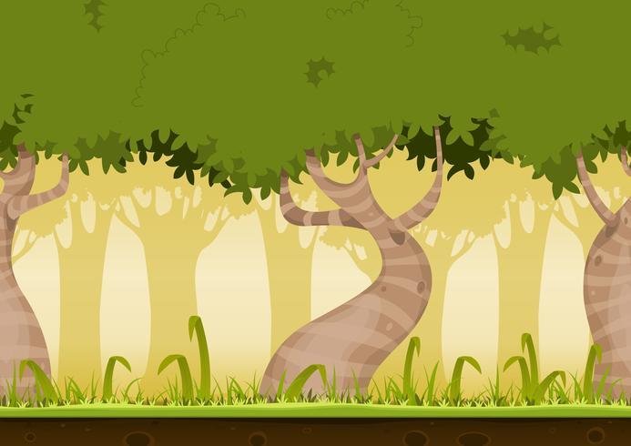 Paisagem de floresta sem emenda vetor
