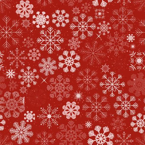 Fundo de flocos de neve de Natal sem costura vetor