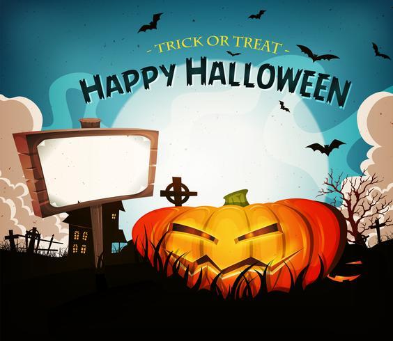 Fundo de paisagem de feriados de Halloween vetor