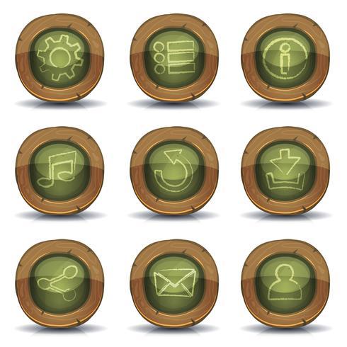 Ícones de lousa de escola para jogo de interface do usuário vetor