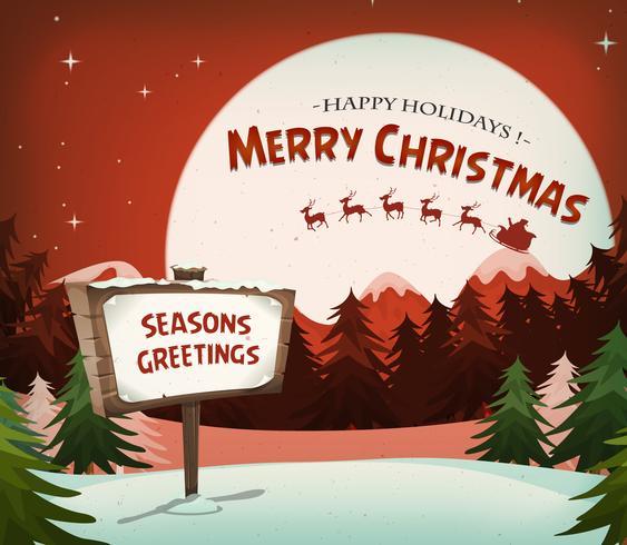 Fundo de férias de Natal feliz vetor