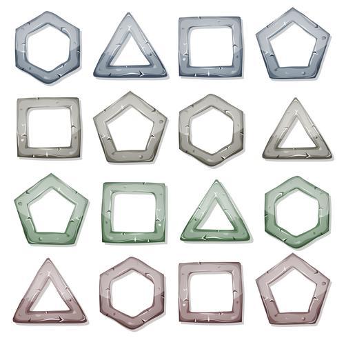 Quadrados De Pedra, Triângulos E Outras Formas Definidas vetor
