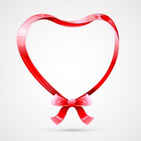 Coração feito de fita vetor