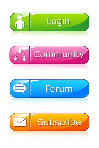 Conjunto de ícone da Web vetor