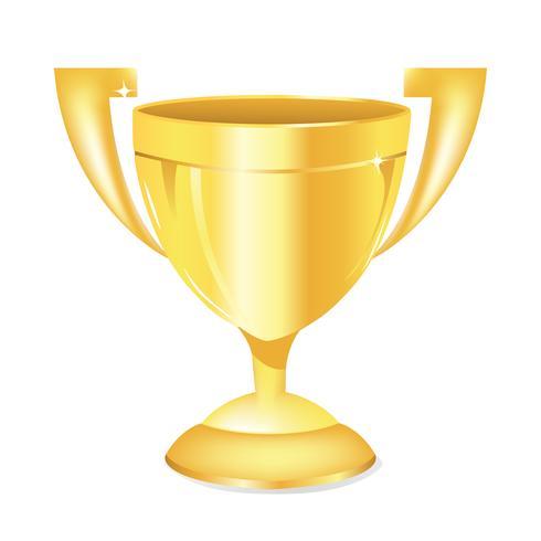Troféu De Ouro vetor