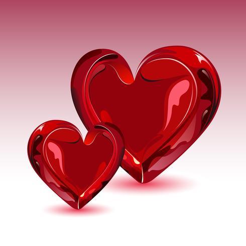 Coração brilhante vetor