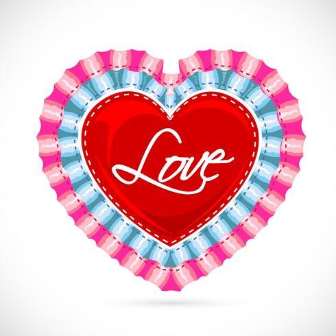Banner de amor vetor
