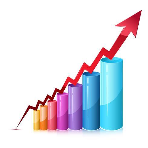 Gráfico de barras vetor