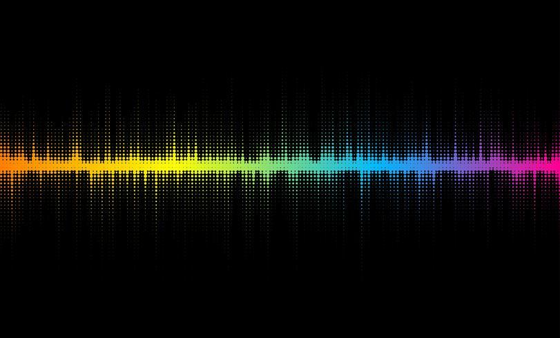 Design de ondas sonoras de meio-tom vetor