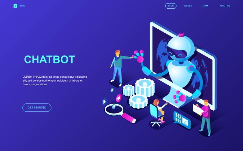 Banner da Web do Chatbot vetor