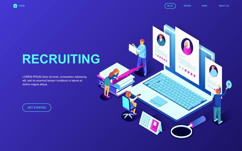 Banner da Web de recrutamento vetor
