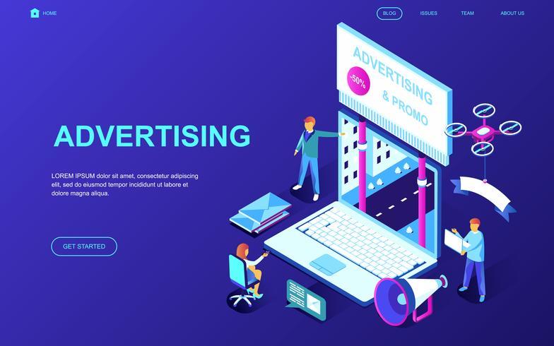 Banner publicitário e promocional da Web vetor