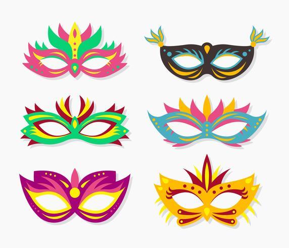 venezia carnaval máscara facial vector