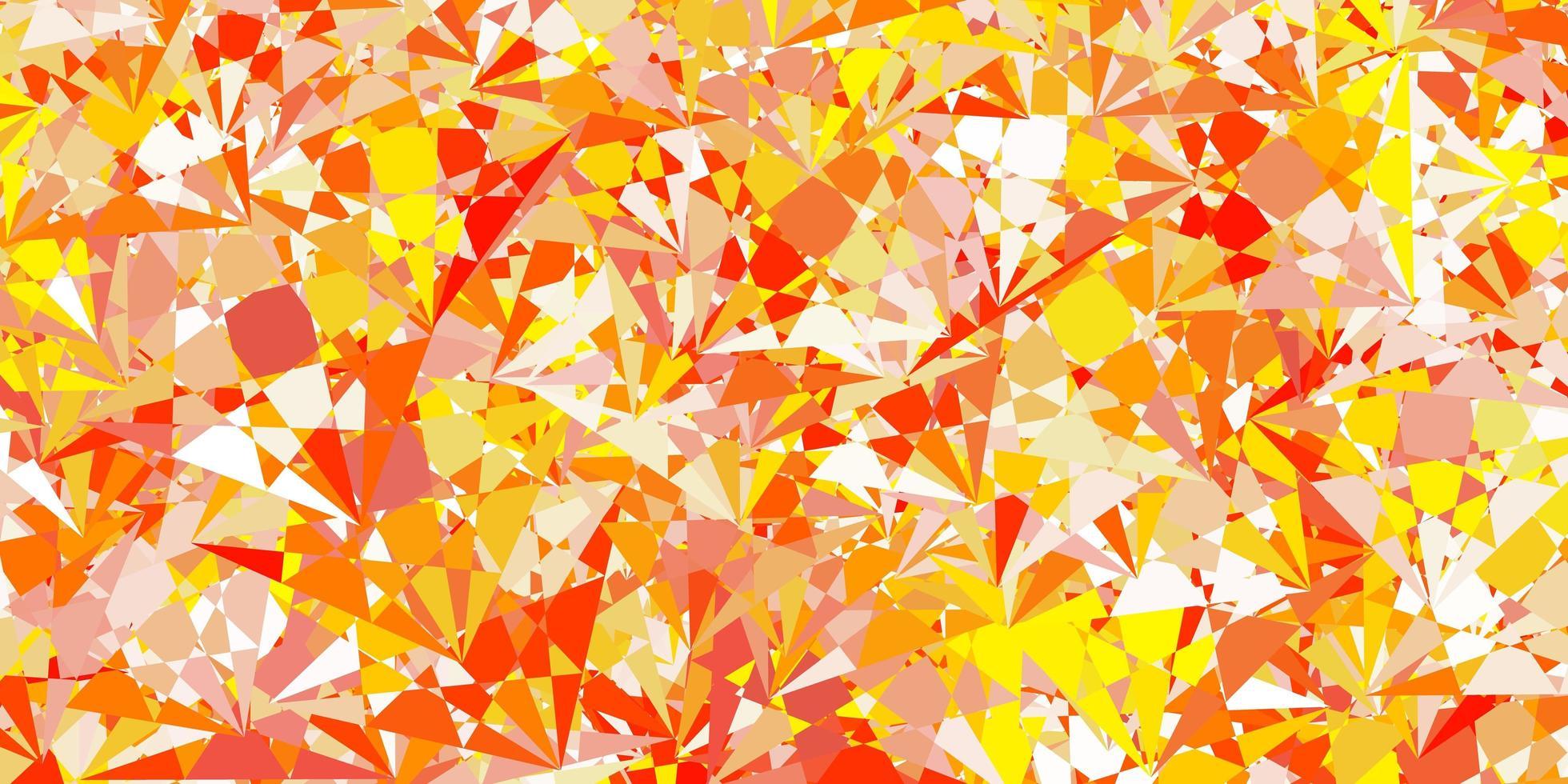 padrão de vetor laranja claro com formas poligonais