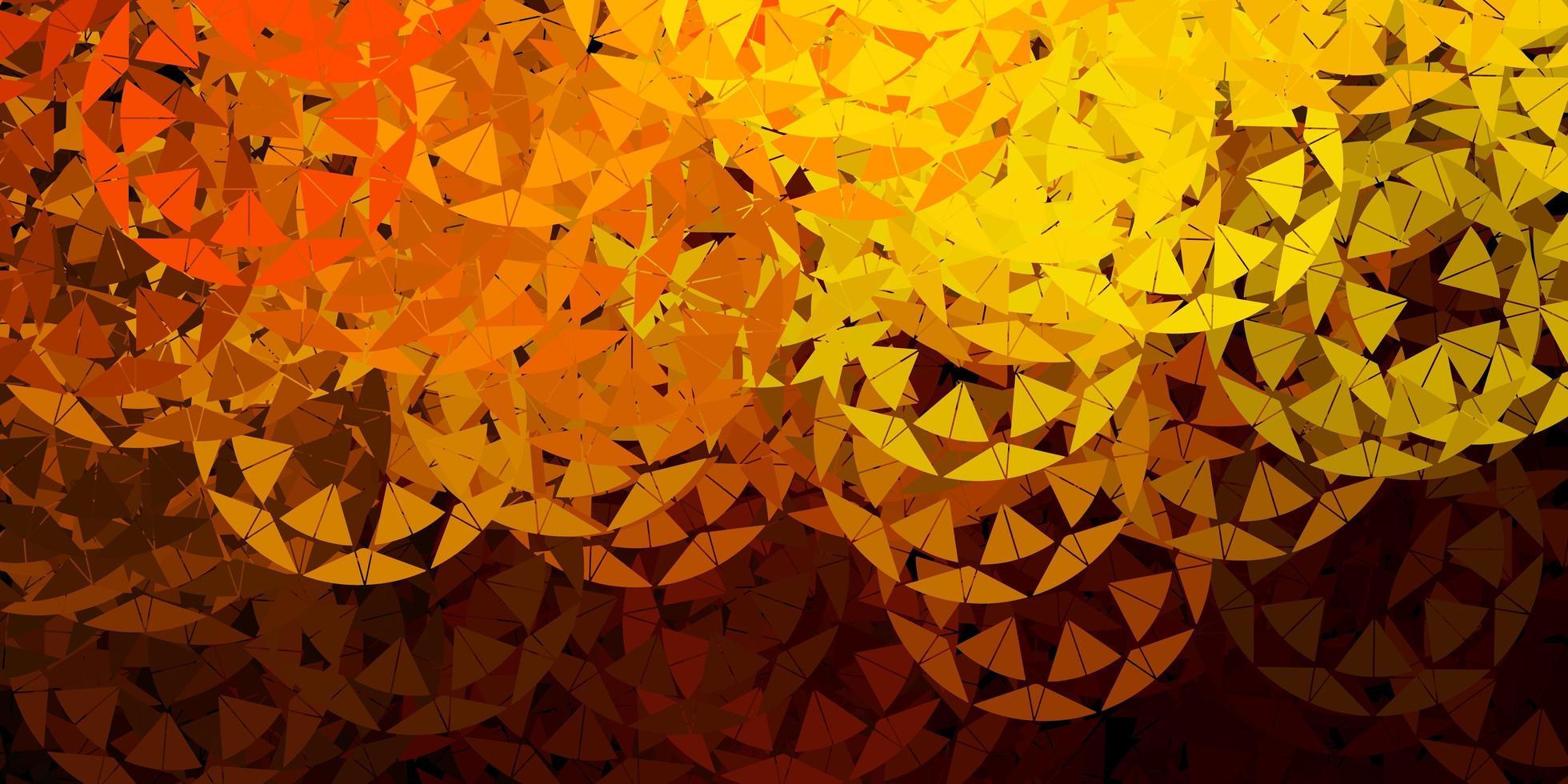 fundo vector verde-escuro amarelo com formas poligonais