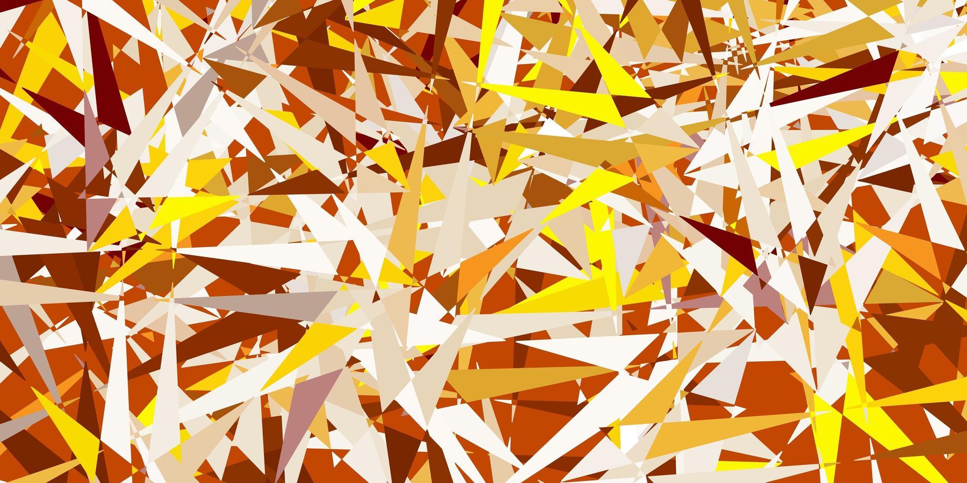 fundo vector amarelo verde claro com formas poligonais