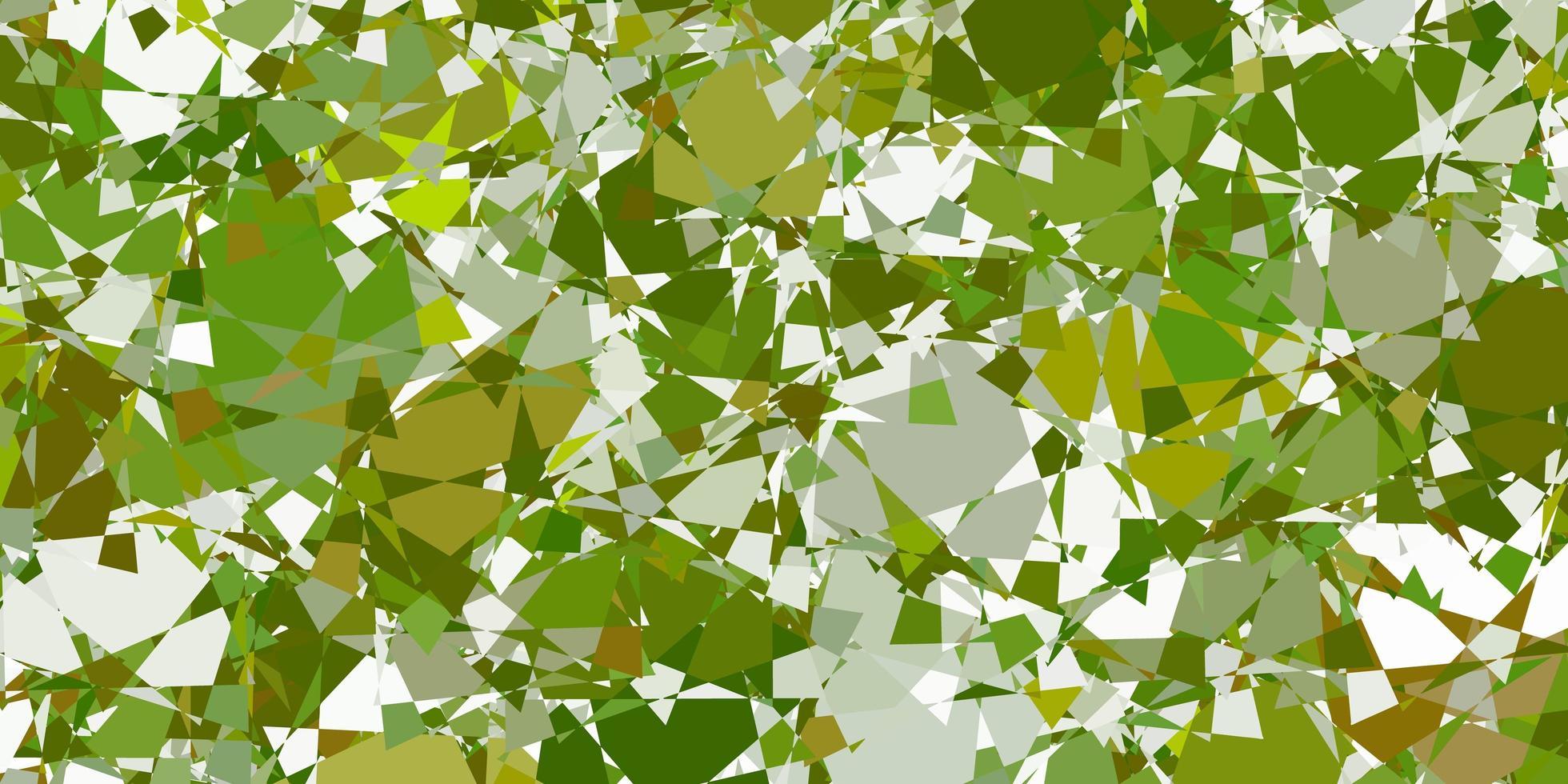 fundo vector verde claro com formas poligonais