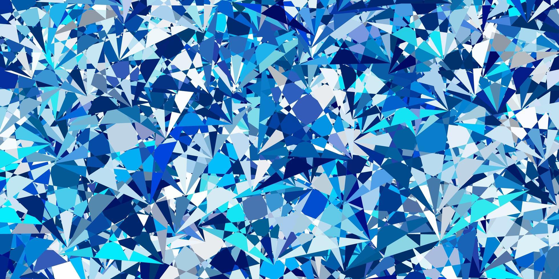 fundo vector azul claro com formas poligonais