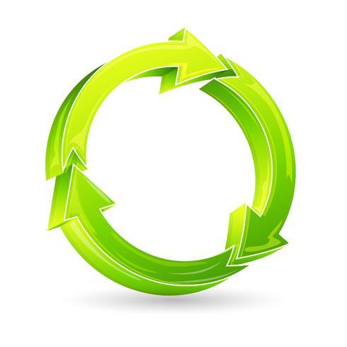 Reciclar seta vetor
