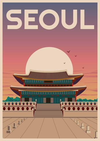 Gyeongbokgung Seul vetor