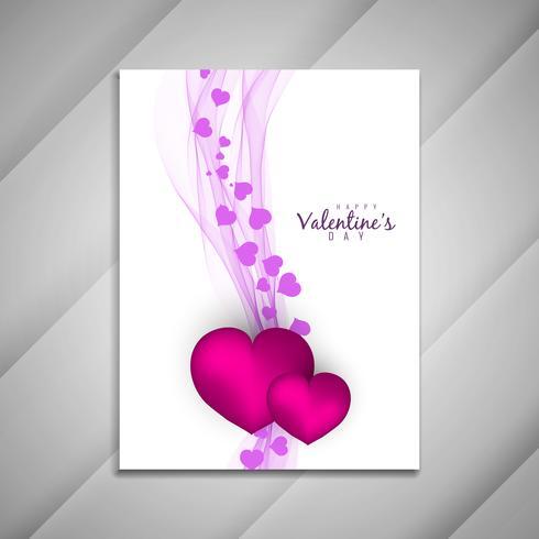 Apresentação de design de folheto Resumo feliz dia dos namorados vetor