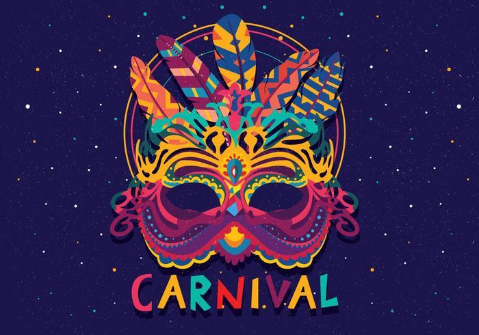 carnevale di venezia máscara colorida vetor