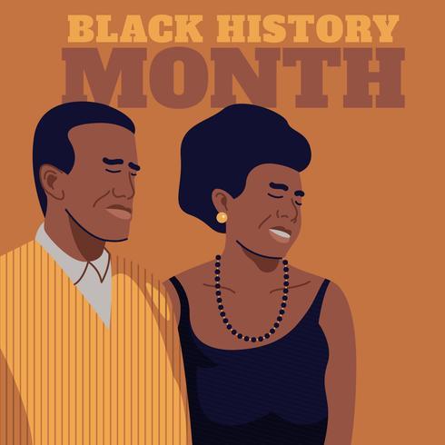 Reconhecimento do Mês da História Negra vetor