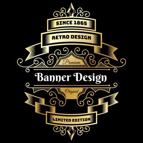 Modelo de Design de fundo vintage flyer vetor