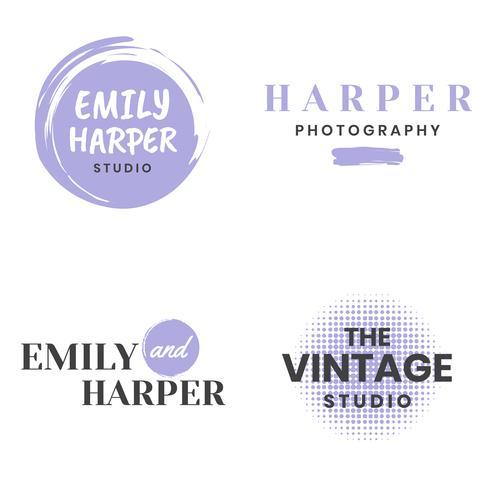 Logotipo de vetor Retro Vintage feminino