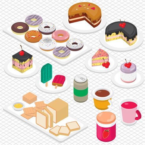 ilustração do conceito de sobremesa gráfica de informação vetor