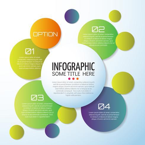 Modelo de design de infográficos vetor