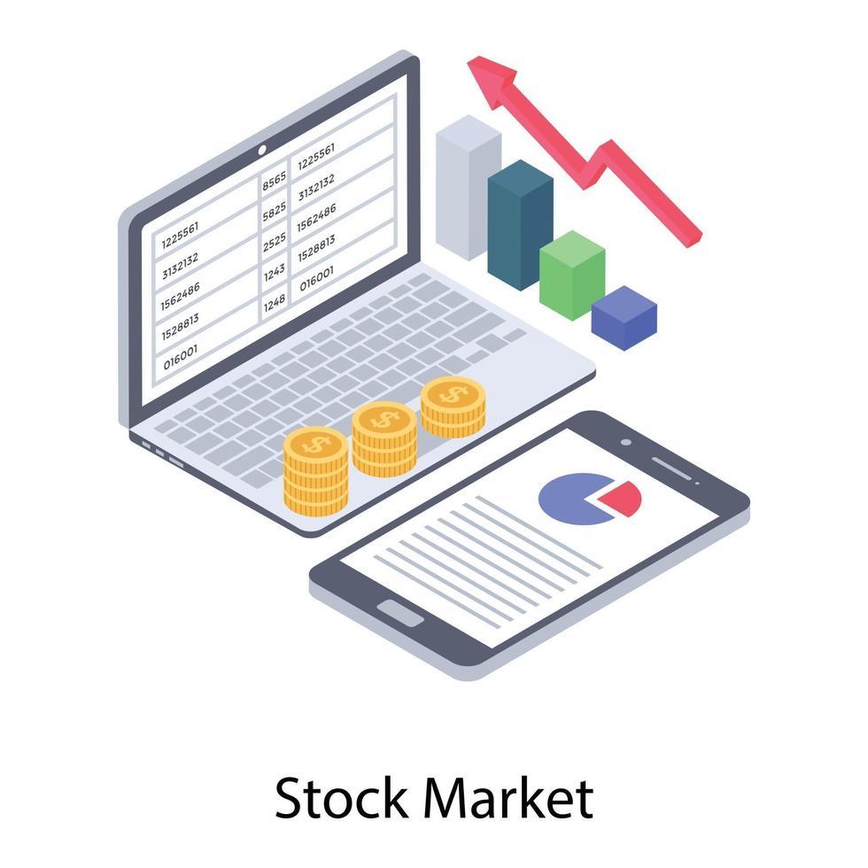 tecnologia de mercado de ações vetor