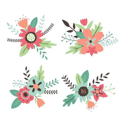 Flor clipart conjunto vector coleção