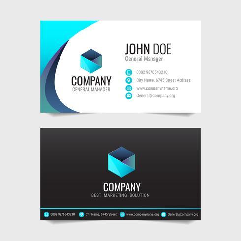 Modern business card Modelo de design de vetor