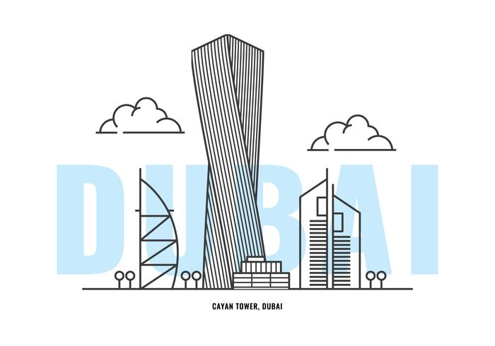 Torre Cayan vetor