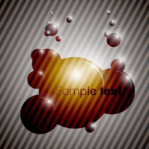 Vetor de eps10 de fundo bolha colorida