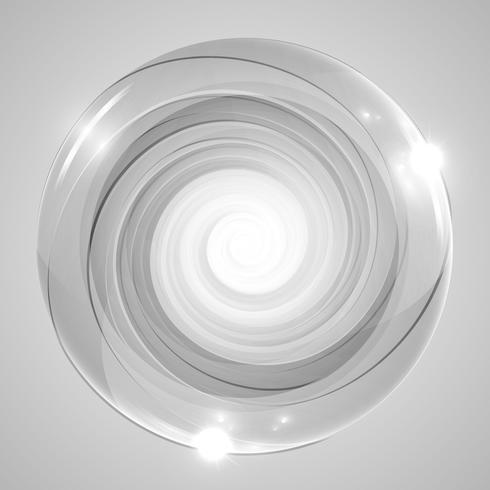 Círculos de vetor cinza e twirls