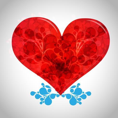 Ilustração em vetor coração dia dos namorados