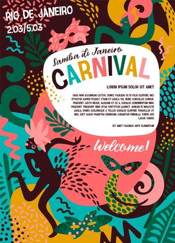 Carnaval do Brasil. Ilustração vetorial com elementos abstratos na moda. vetor