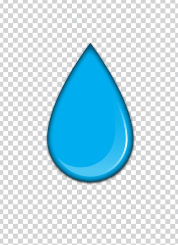 Respingo de tinta azul com fundo de transparência. Ilustração vetorial vetor
