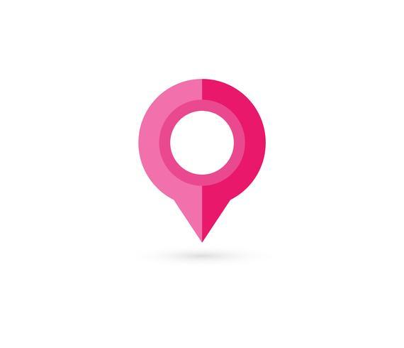 Pino de localização. Mapa pin ícone plana vector design.