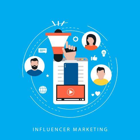 Campanha de marketing de vídeo, promoção online vetor