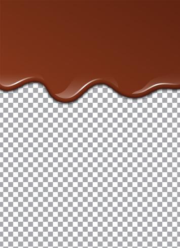 Chocolate líquido ou tinta marrom. Ilustração vetorial vetor
