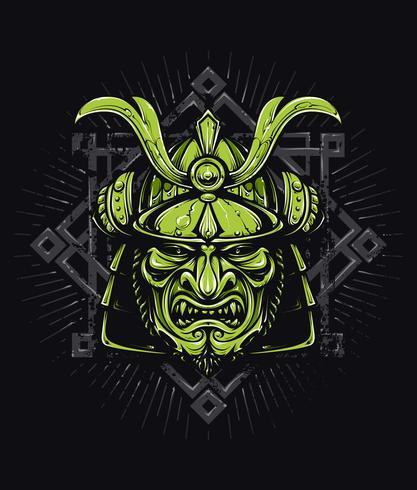 Máscara de samurai de vetor