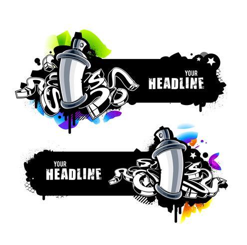Banners de graffiti vetor