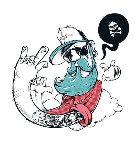 Ilustração de grafite hipster vetor